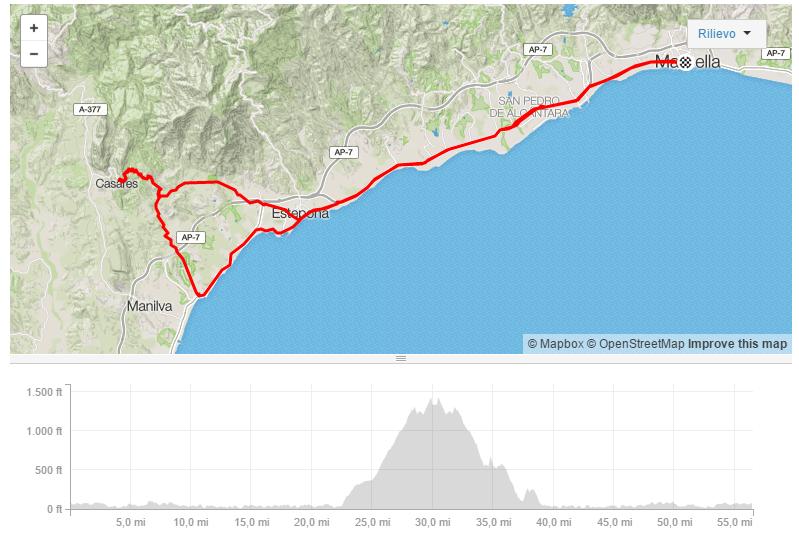 Day 1: Marbella - Estepona - Casares - Marbella Bike Division Marbella Cycling Experience